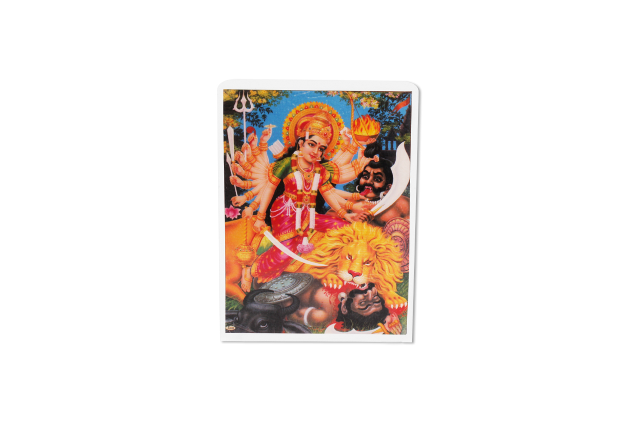 Goddess Mahishasura Mardhini Glittering Photo