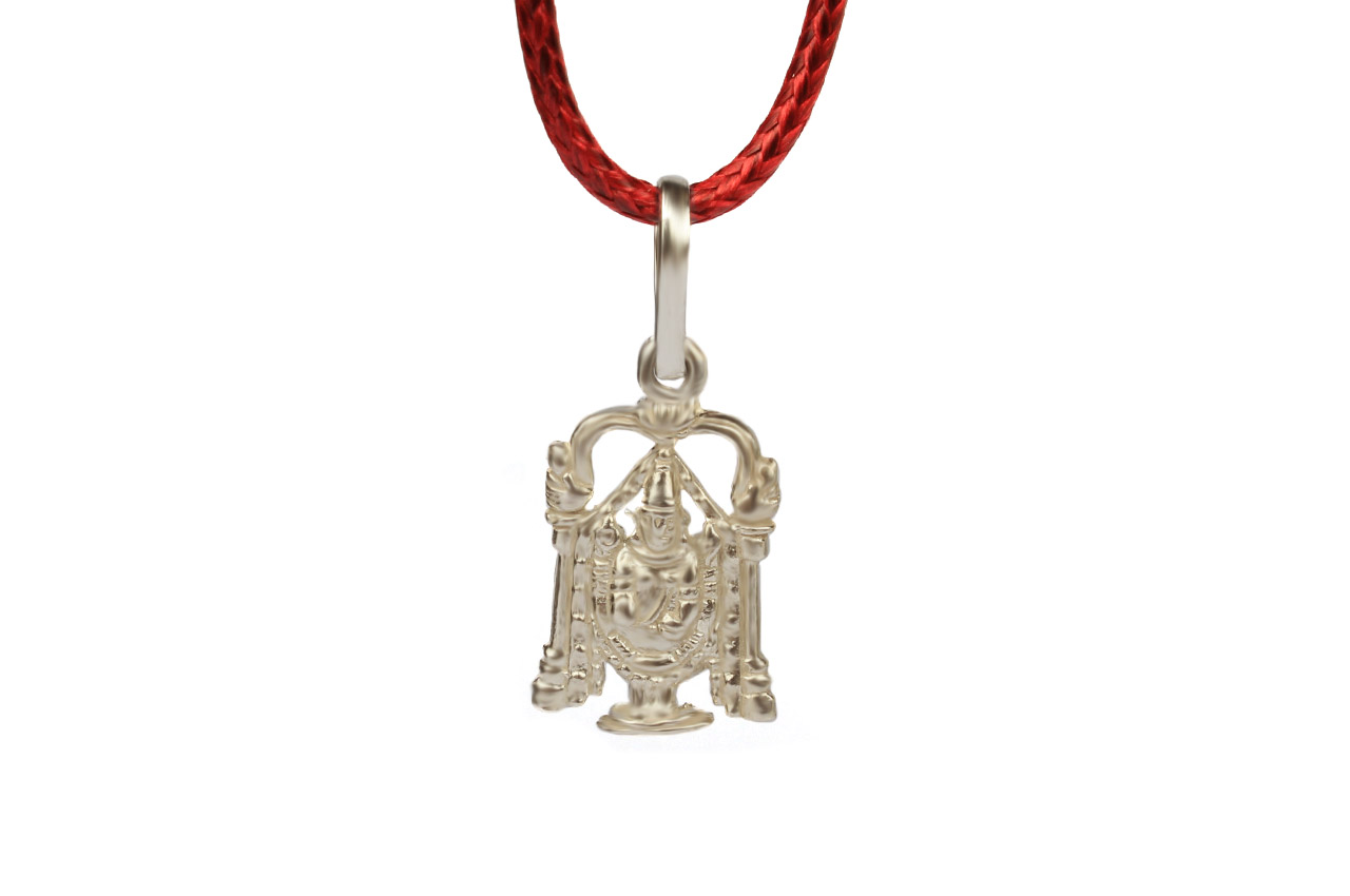 Tirupati Balaji Locket - in Pure Silver - Design III