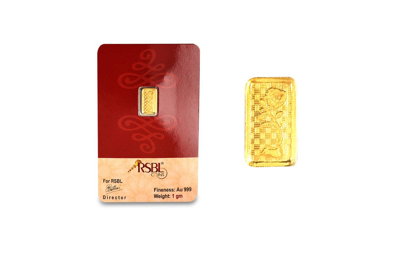 1 Gm Pure Gold Bar 24 Carat Rudraksha Ratna