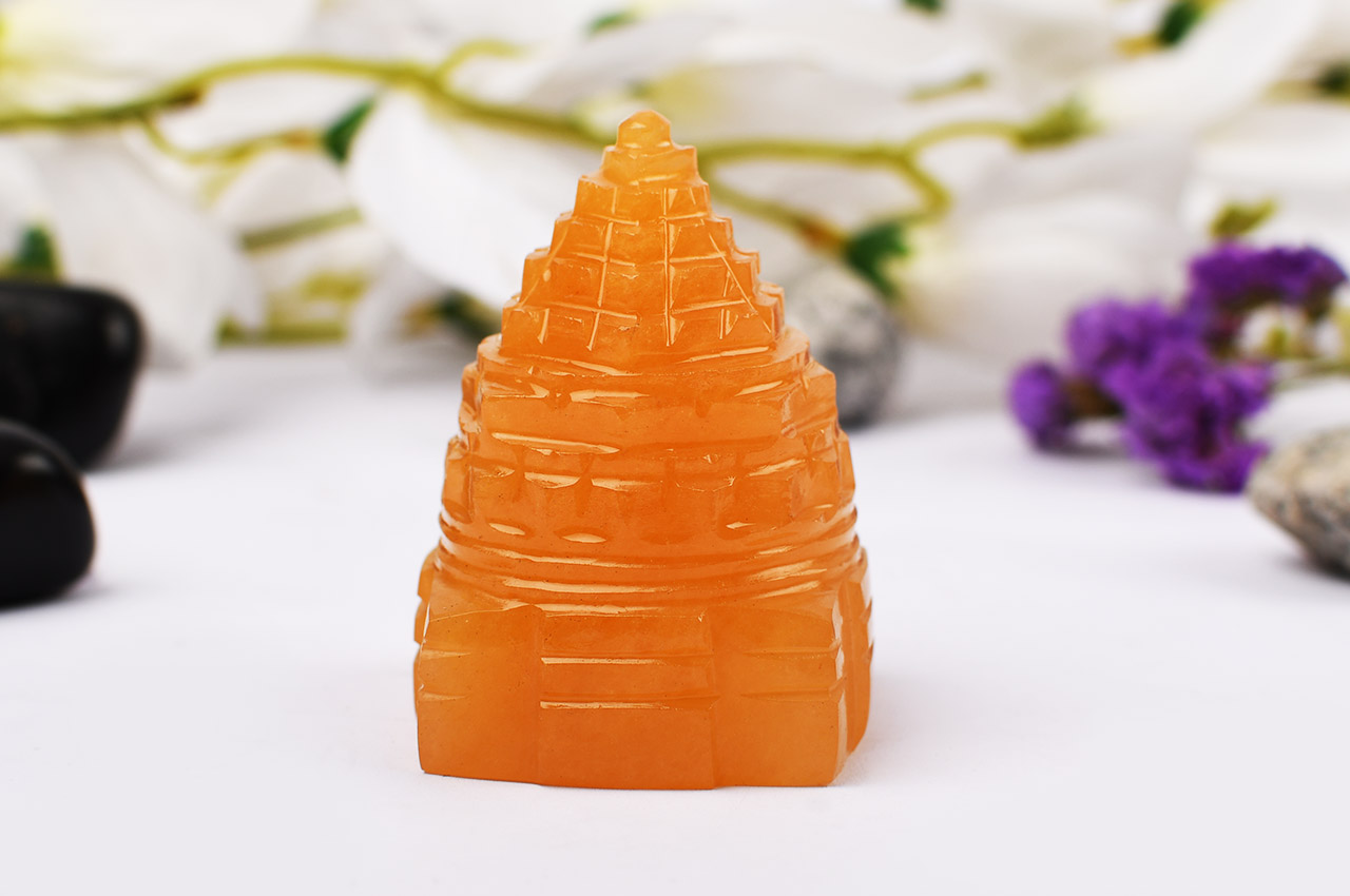 Yellow Jade Shree Yantra - 115 gms