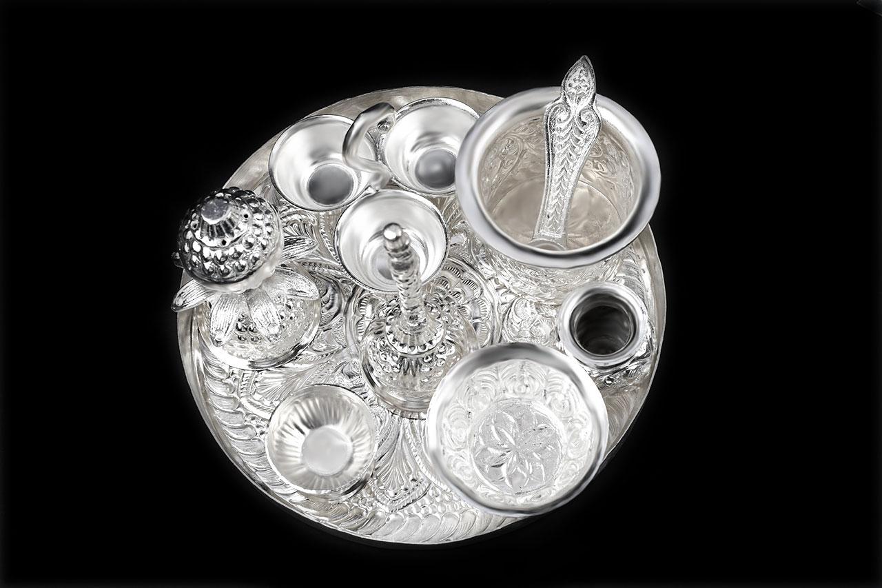 Royal Puja Thali  in German Silver