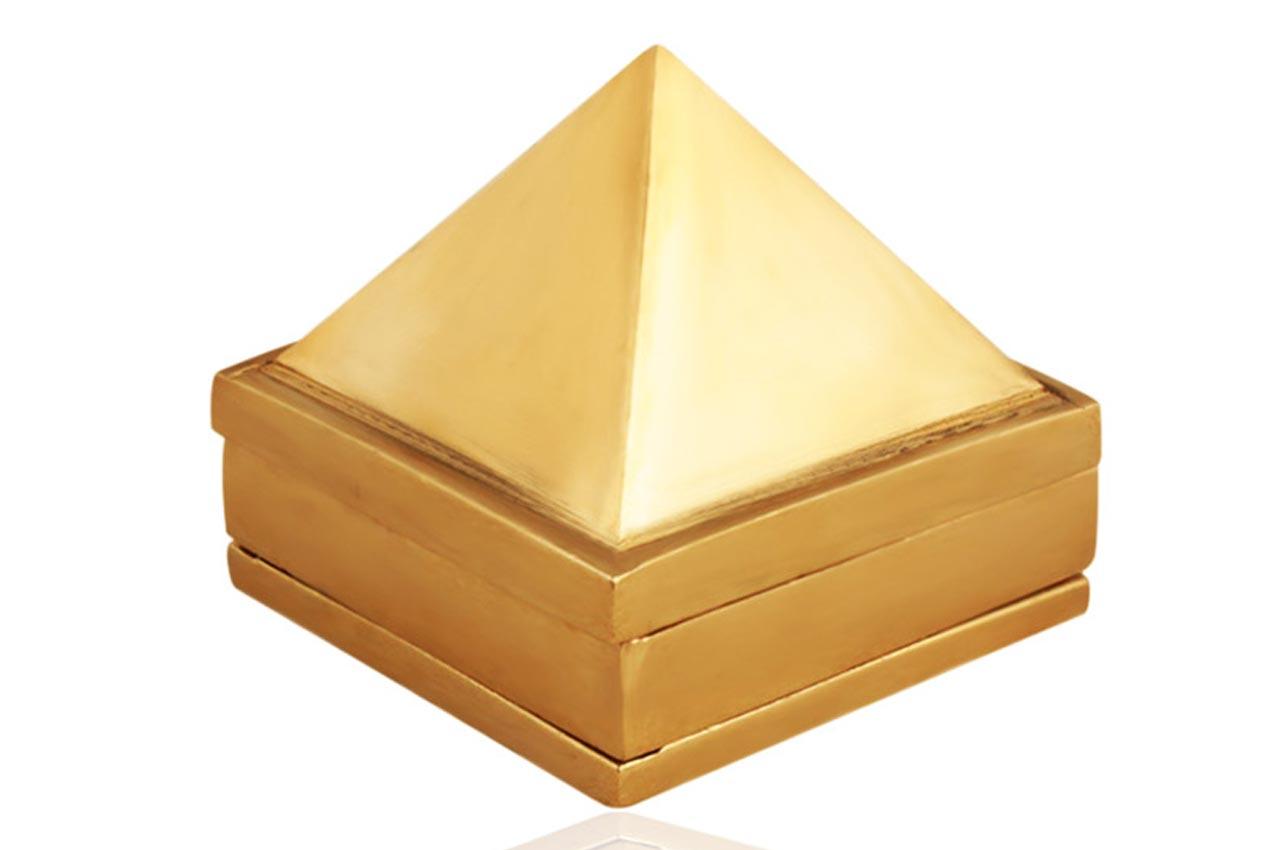 Pyramid in Brass