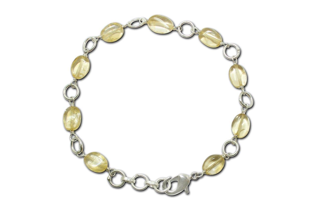 Citrine Oval Bracelet - Design II