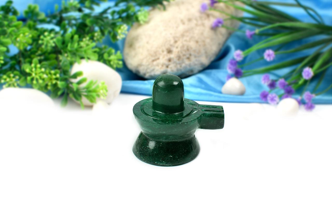 Green Jade Shivlinga-156 gms