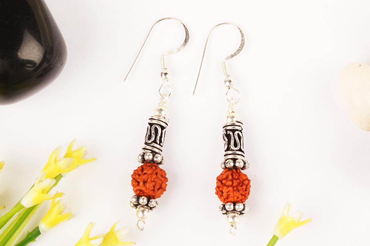 Earrings of Rudraksha Beads - Design VI
