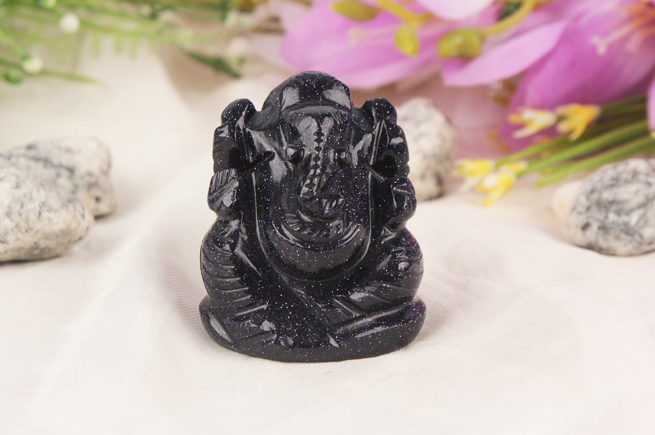 Blue Sunstone Ganesha - 60 gms