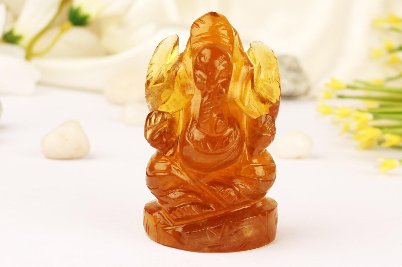 Fluorite Ganesha - 113 gms