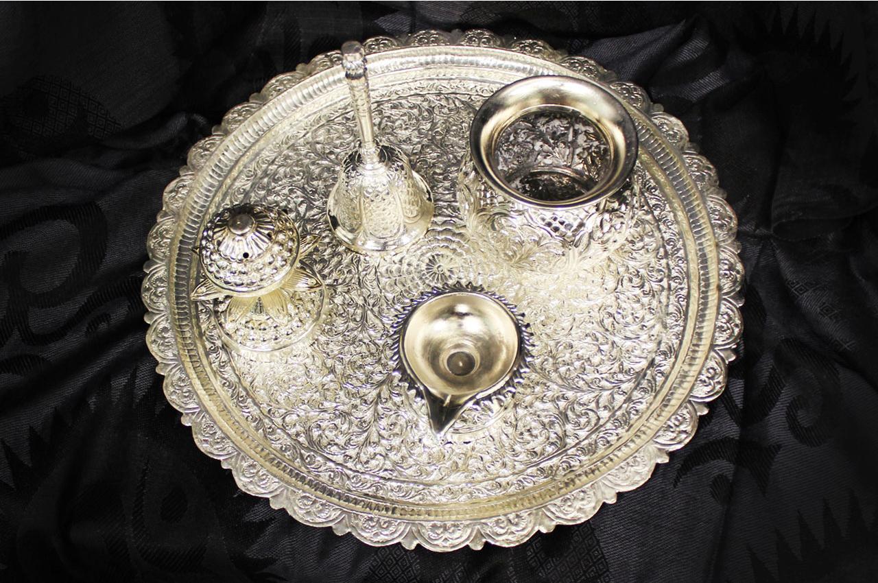 Puja Thali Set - German silver