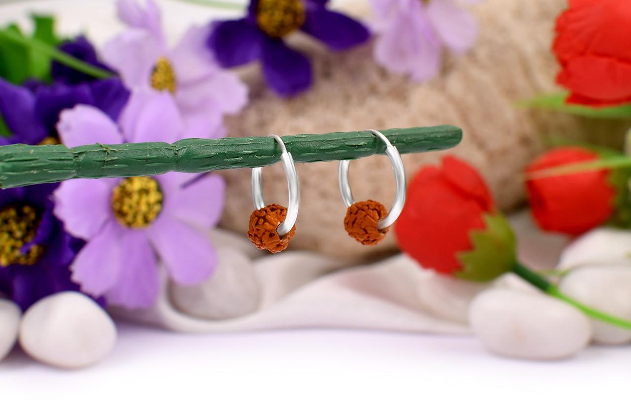 Rudraksha Earrings Set - XII