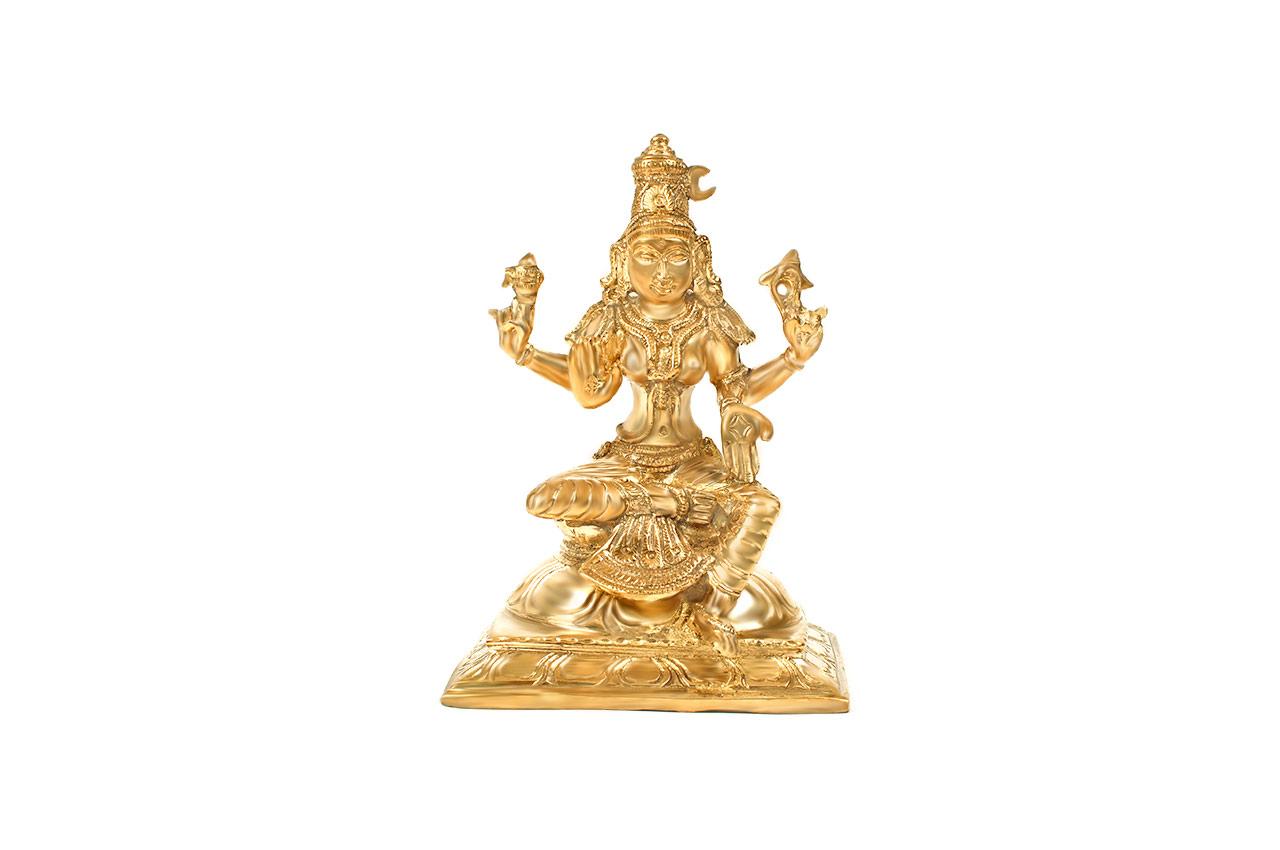 Goddess Bhuvaneshvari idol in Bronze