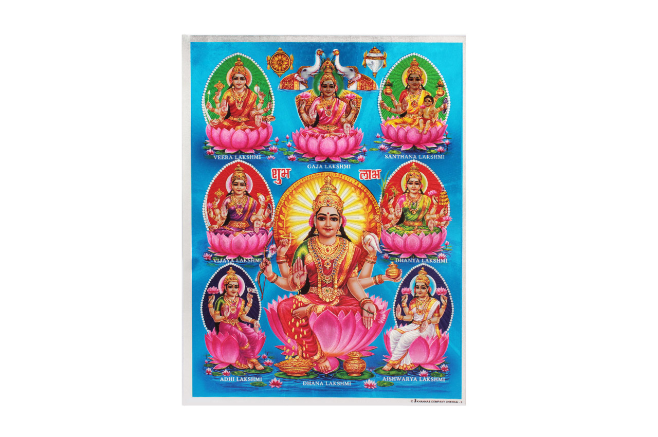 Goddess Ashta Lakshmi Photo - Large