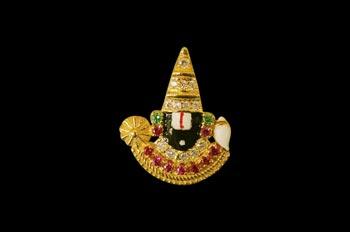 Tirupati Balaji Locket in Gold - Design II - 3.26 gms