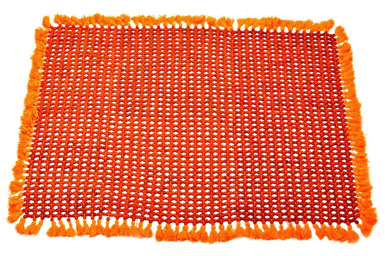 Rudraksha Mat in cotton thread smooth beads