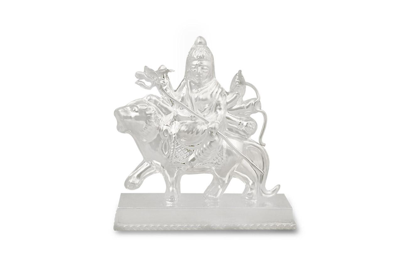 Maa Durga Idol in pure silver - Small