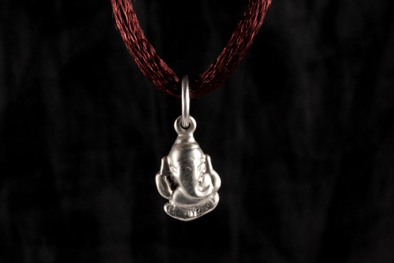 Ganesh Locket in Pure Silver - Design XXXX