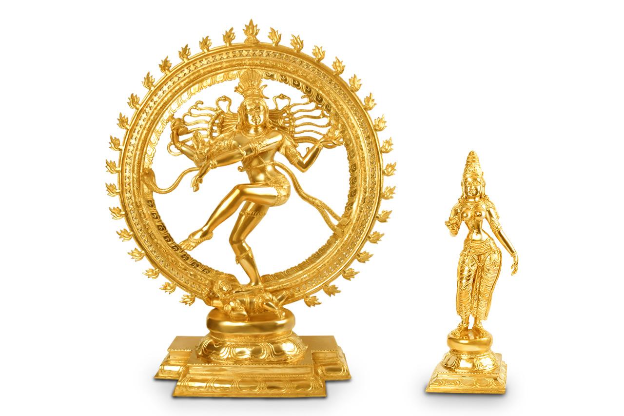 Natraja and Shivagami Idols in Bronze