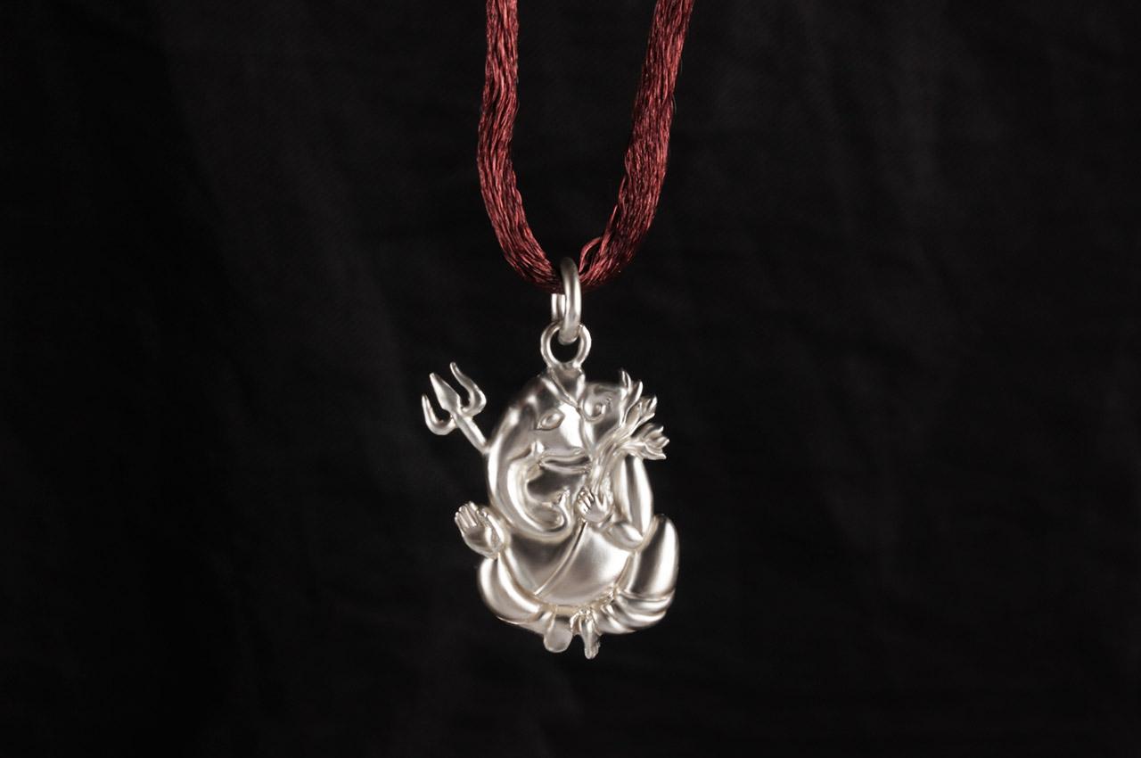 Ganesh Locket - in Pure Silver - Design XX