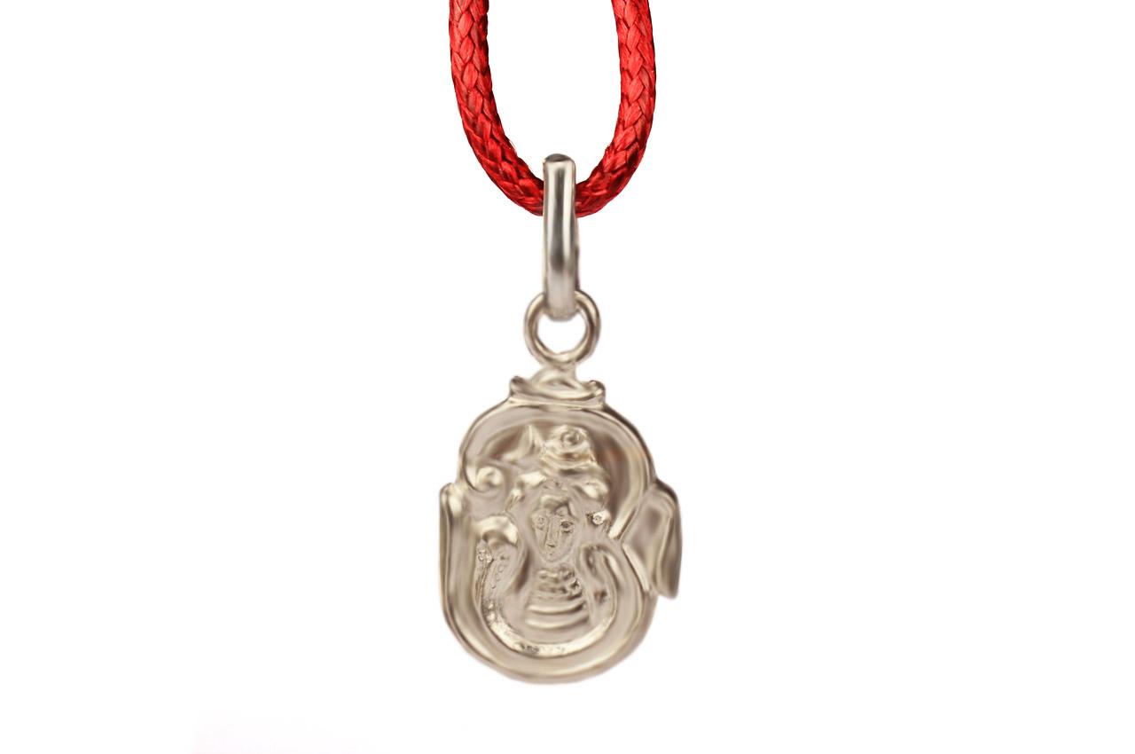Om Shiva Locket - in Pure Silver - Design - VIII