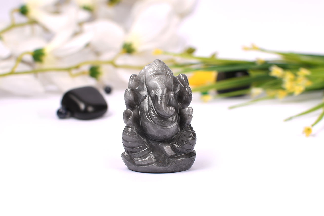 Black Ketu Ganesha - 59 gms