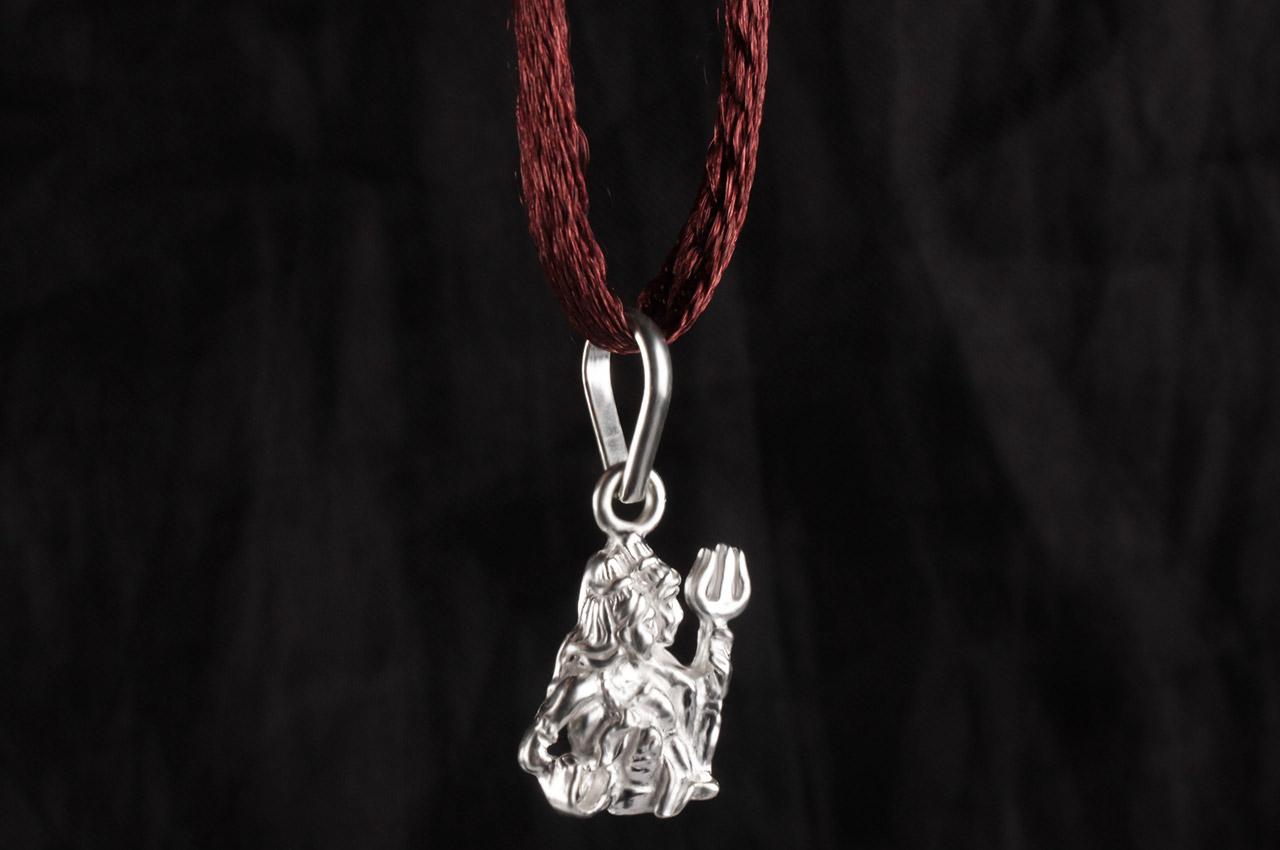 Shiva Parvati Locket - in Pure Silver - Rudraksha Ratna