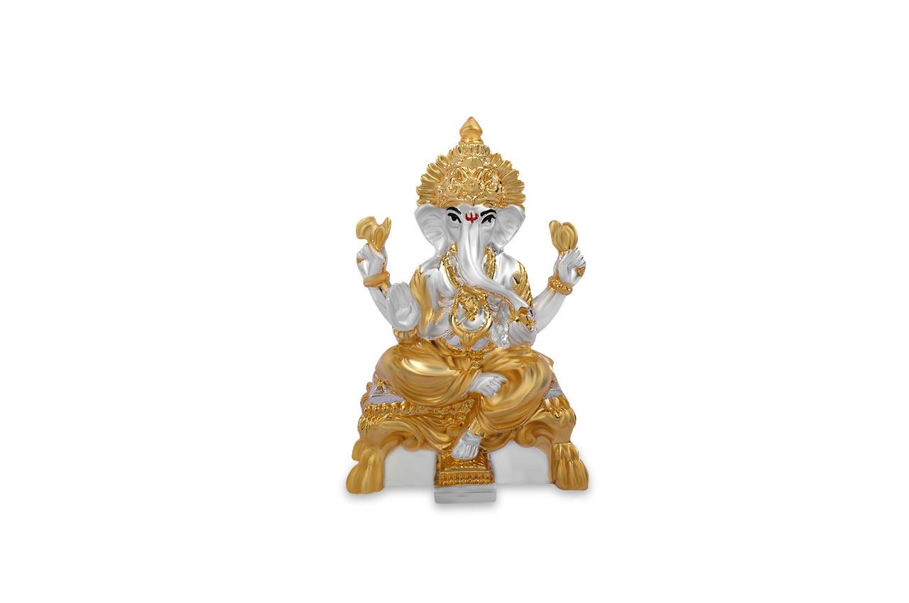 Ganesha with gold silver coating - II