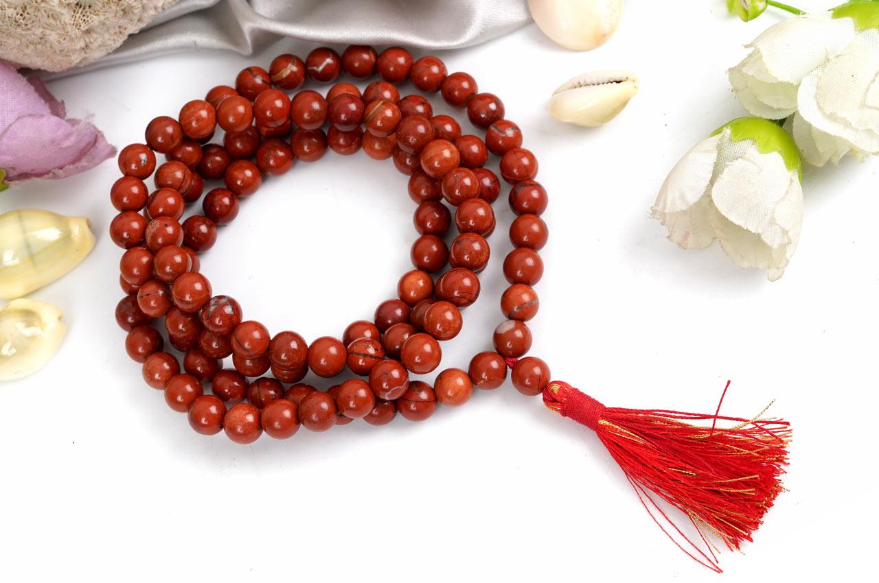 Red Jasper Necklace - 8 mm