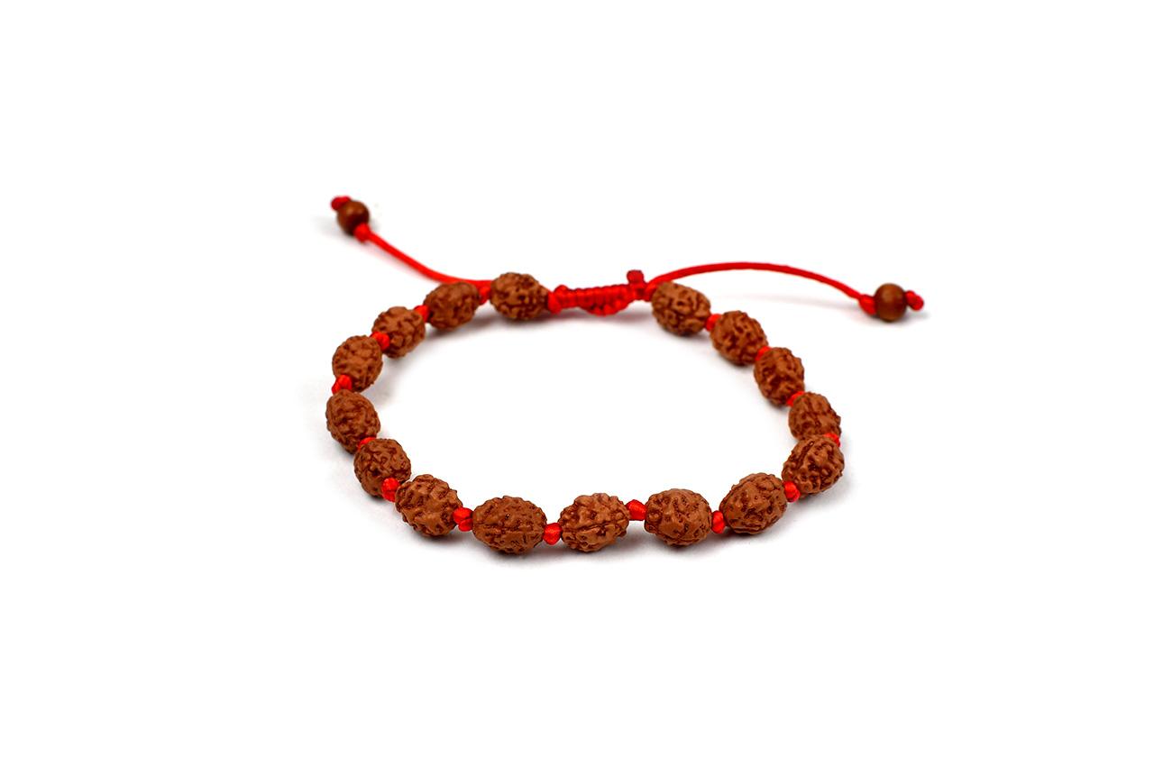 3 mukhi Mahajwala bracelet from Java in silk thread