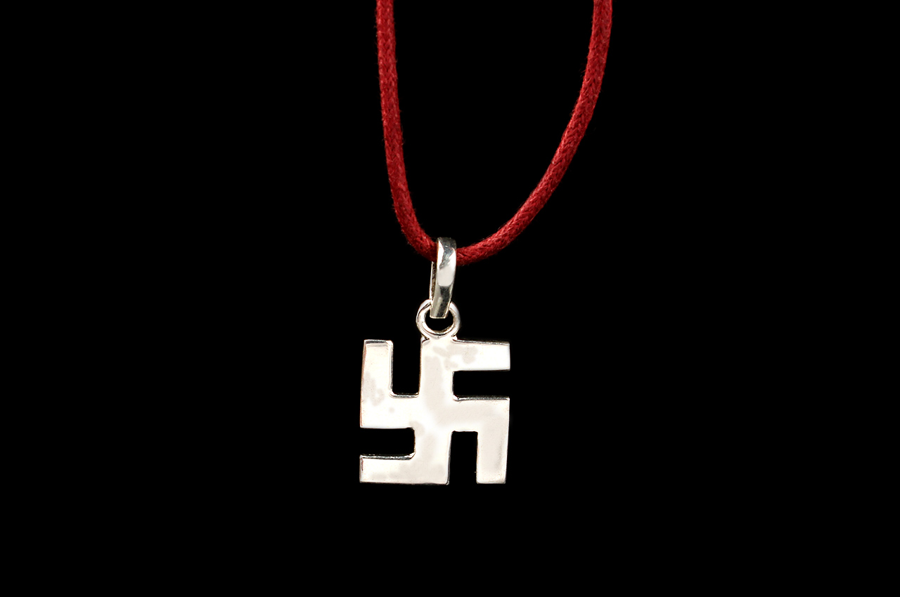 Swastik Locket - in Silver