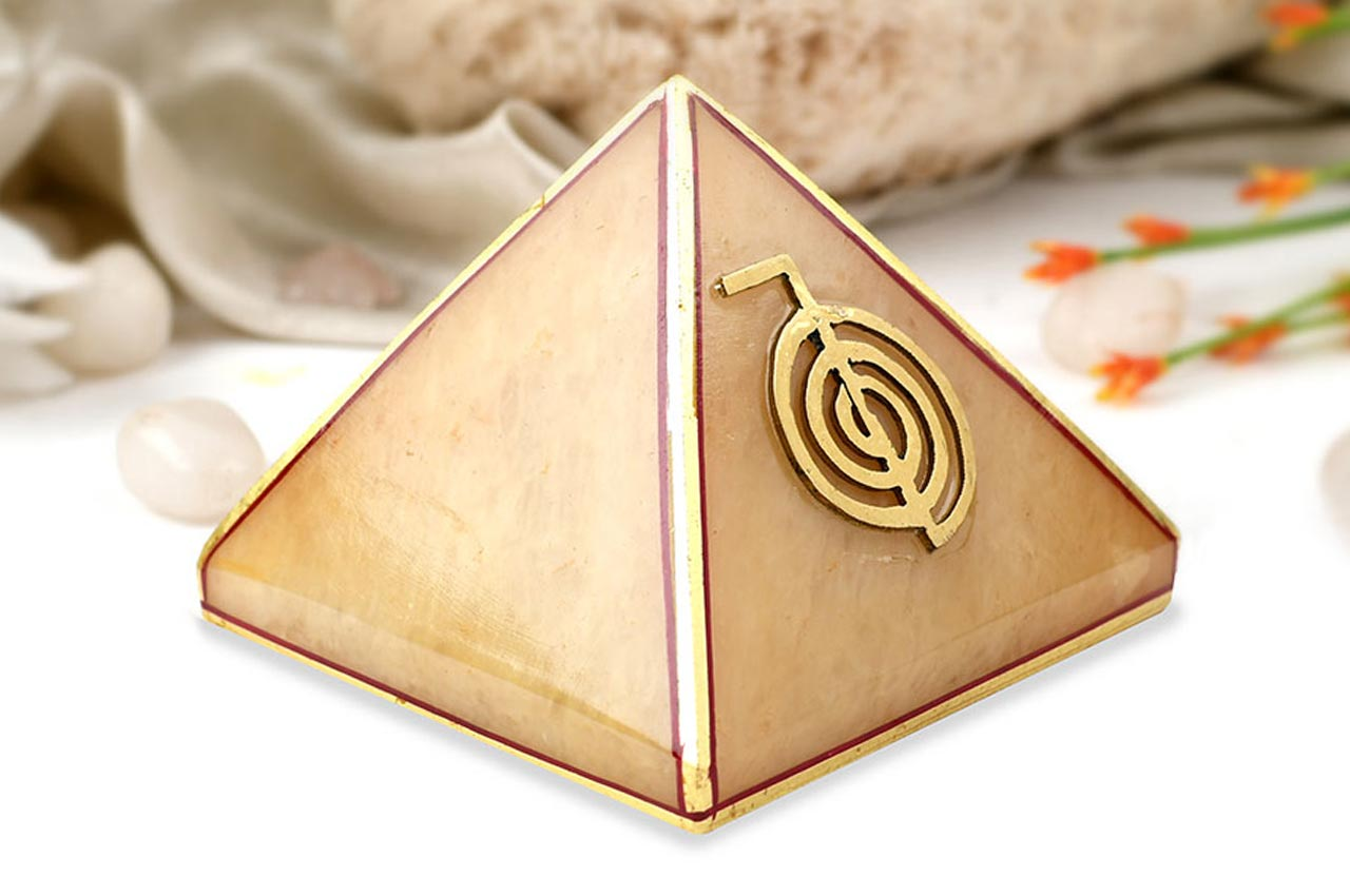 Yellow Jade Pyramid For Power