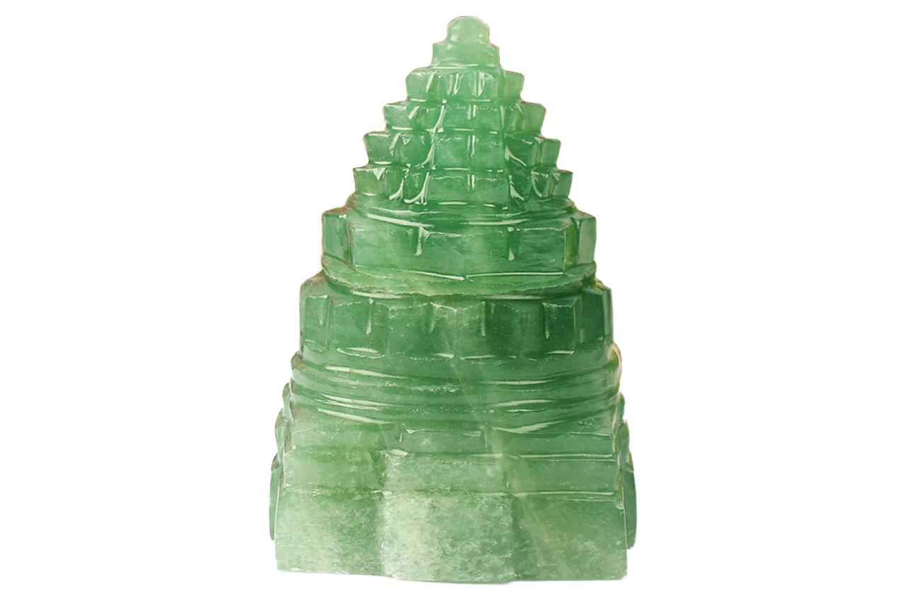 Light Green Jade Shree Yantra