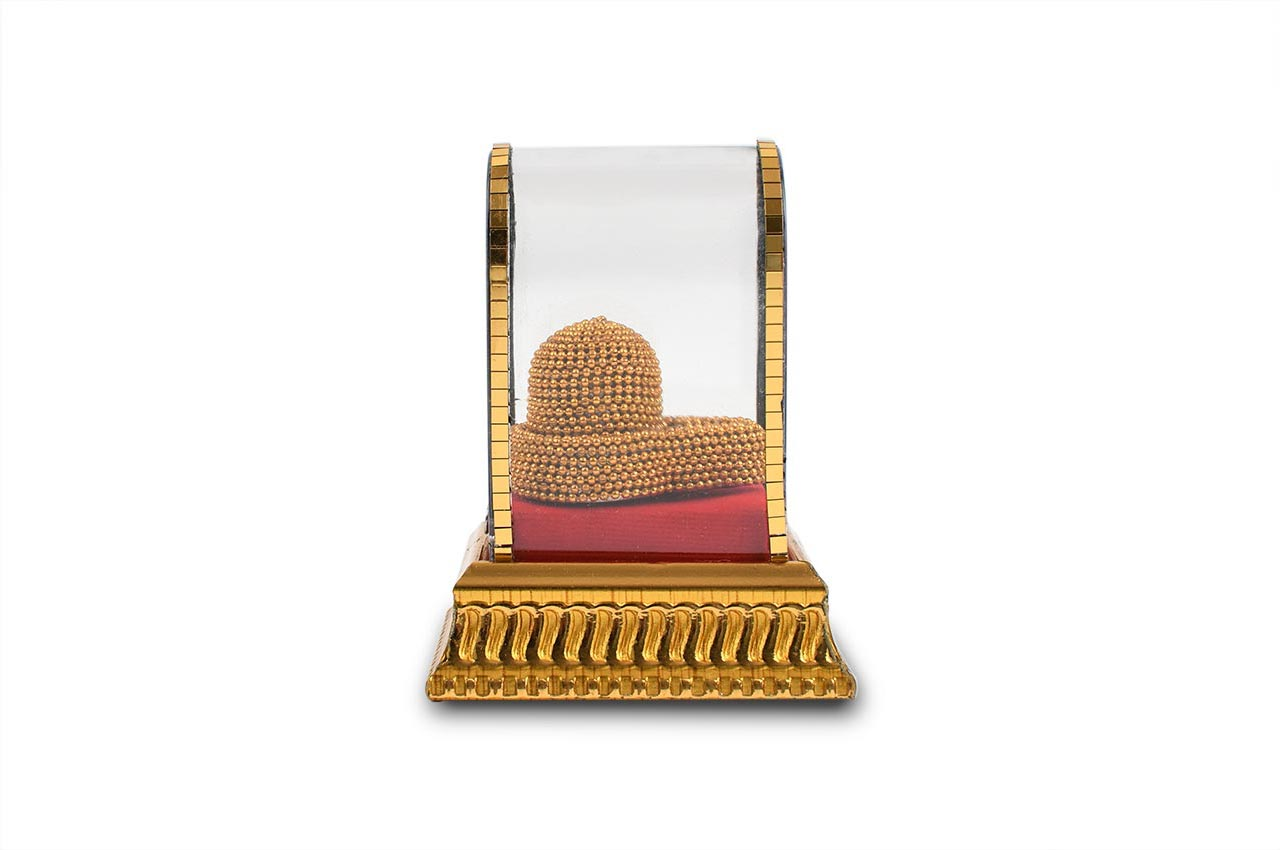 Parad lingam adorned with divine apparel
