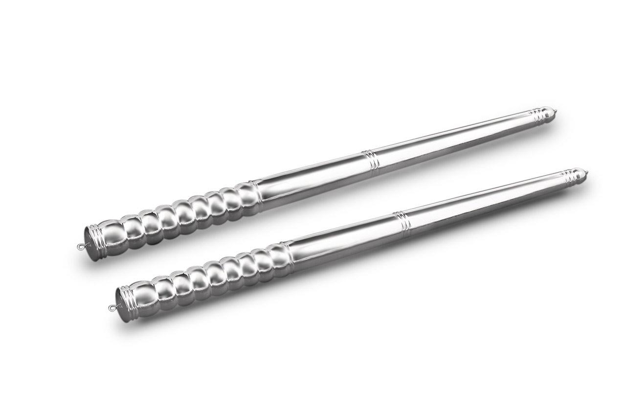 Dandiya Sticks in pure Silver