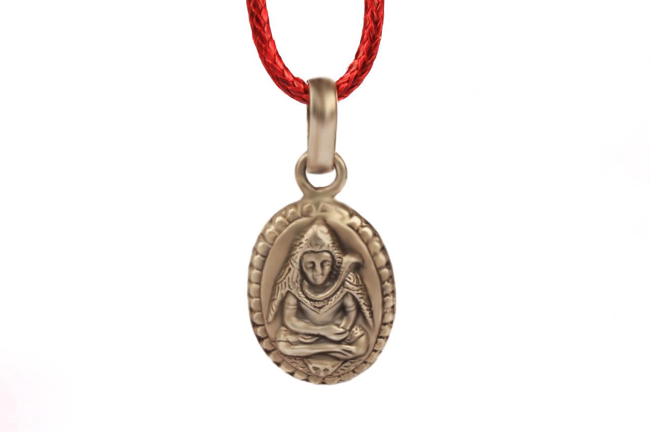 Shiva Locket in Pure Silver - Design II