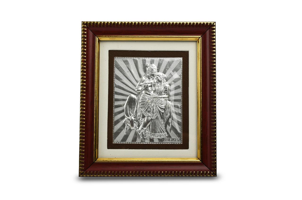 Radha Krishna in silver