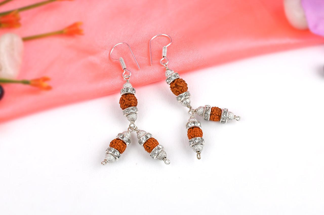 Rudraksha earring - Design XX