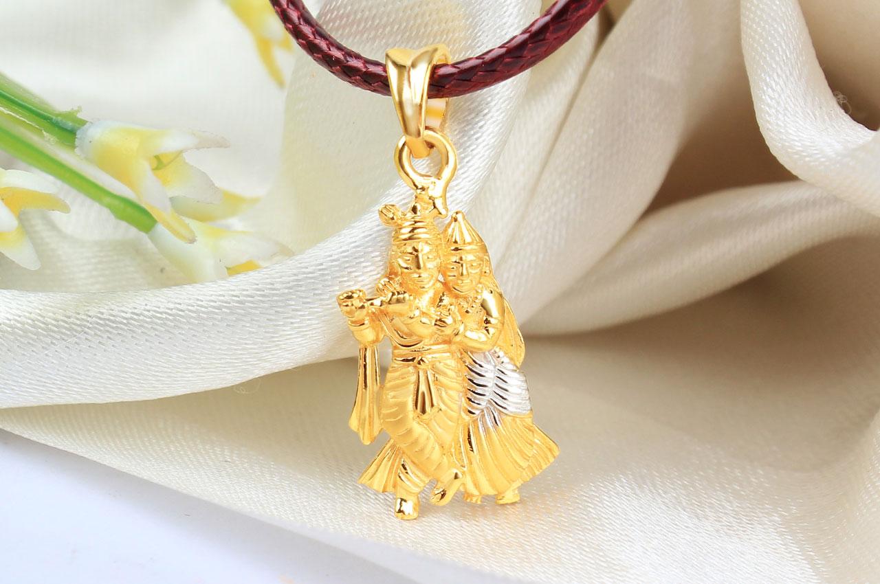 Radha krishna locket in pure gold 356 gms rudraksha ratna radha krishna locket in pure gold 356 gms aloadofball Choice Image