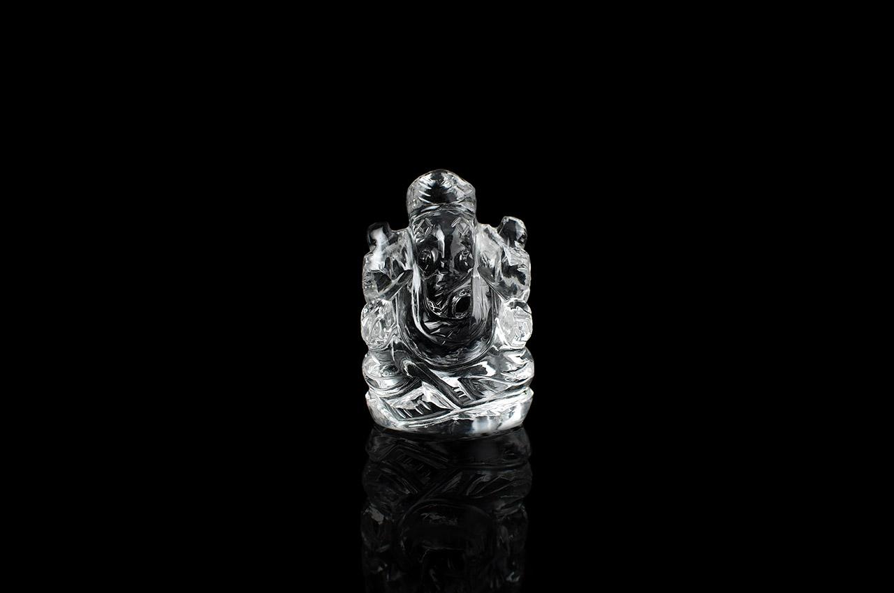 Sphatik Crystal Ganesha - 25 gms