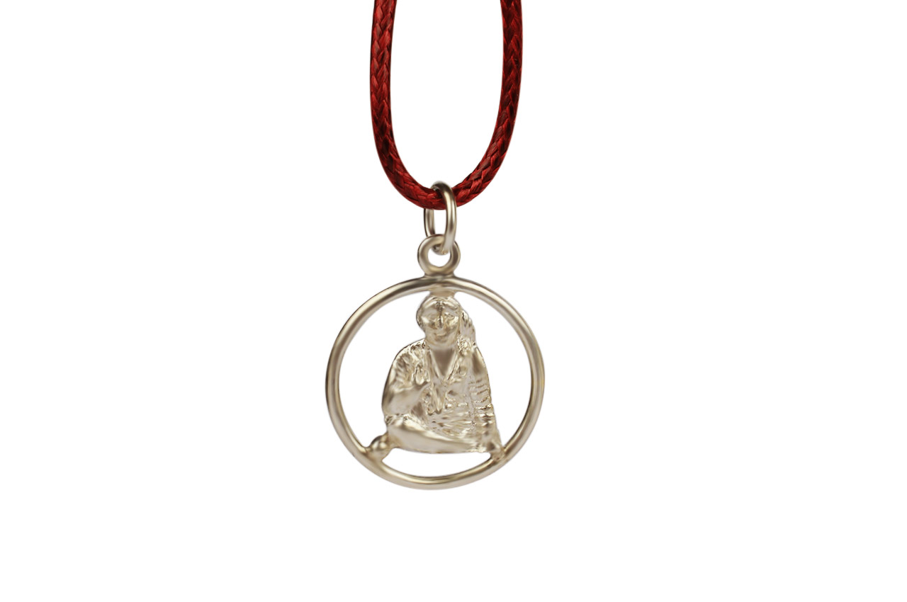 Saibaba Locket - in Pure Silver - Design I