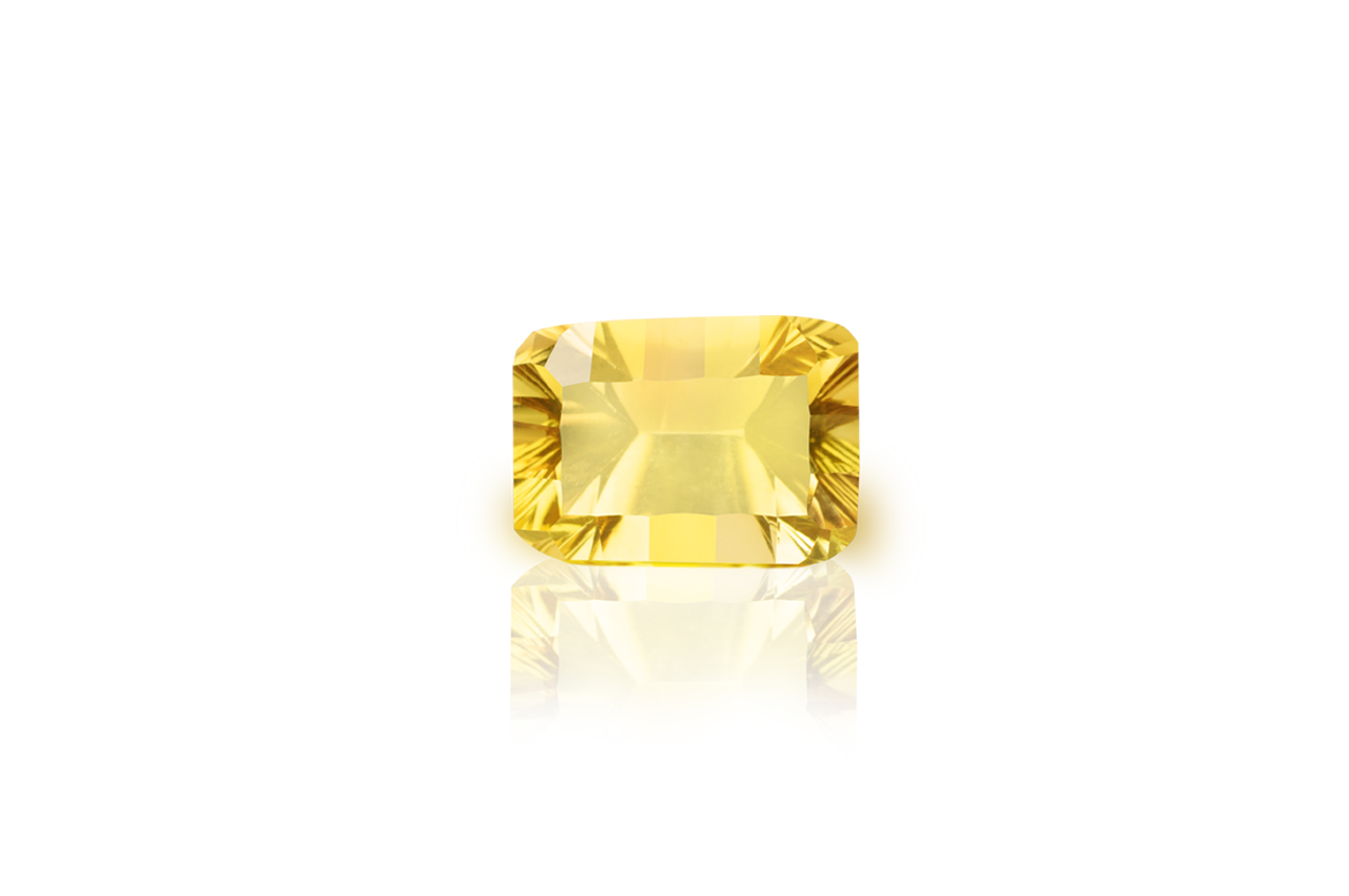Yellow Citrine Superfine Cutting - 4.85 carats - Emerald