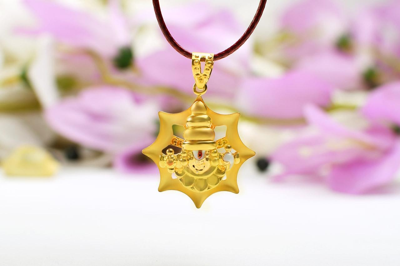 Tirupati Balaji Locket in Pure Gold - 2.98 gms