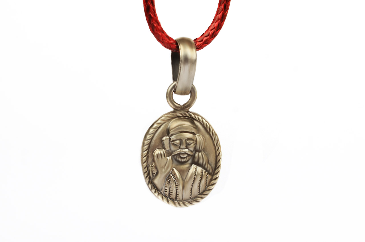 Saibaba Locket - in Pure Silver - Design II