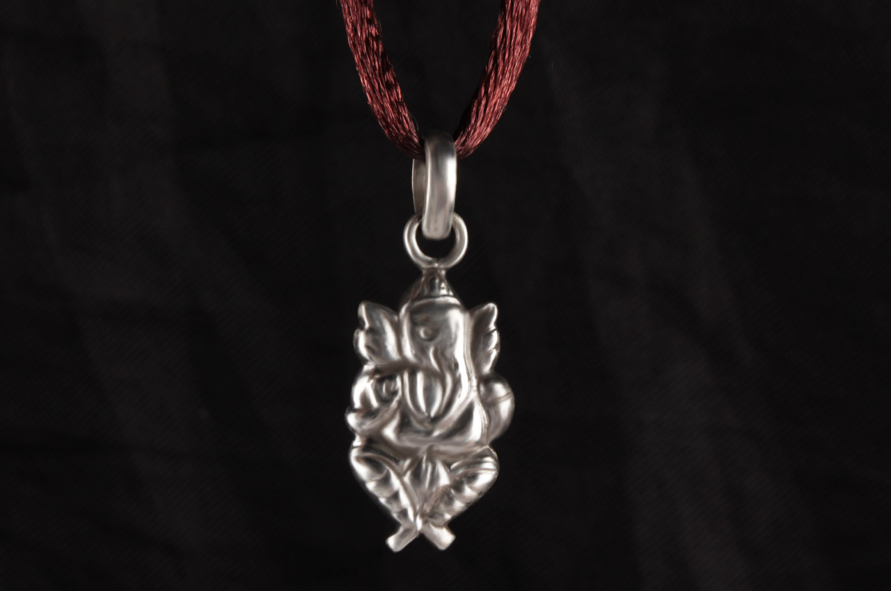 Ganesh Locket in Pure Silver - Design XXV