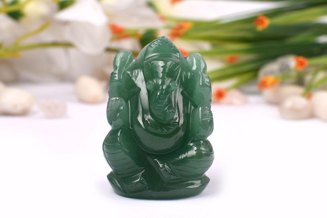 Ganesha in Austrailian Green Jade - 76 gms