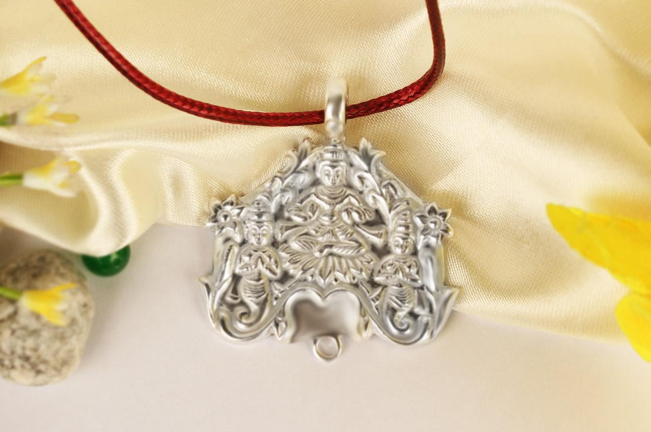 Lakshmi Locket in Pure Silver - 21.50 gms