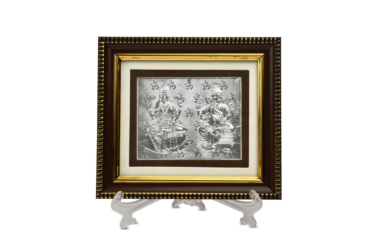 Ganesh Lakshmi in silver