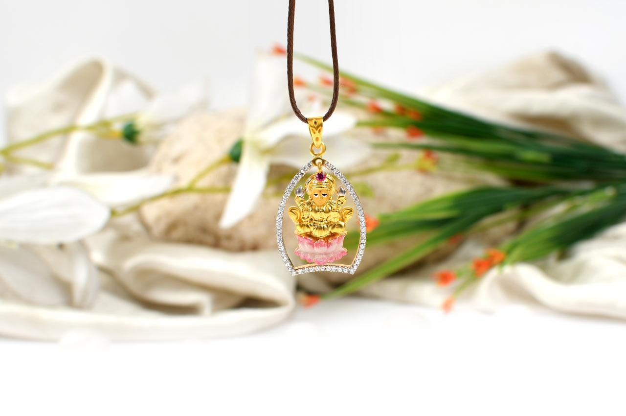 Lakshmi Locket in Pure Gold - 4.7 gms