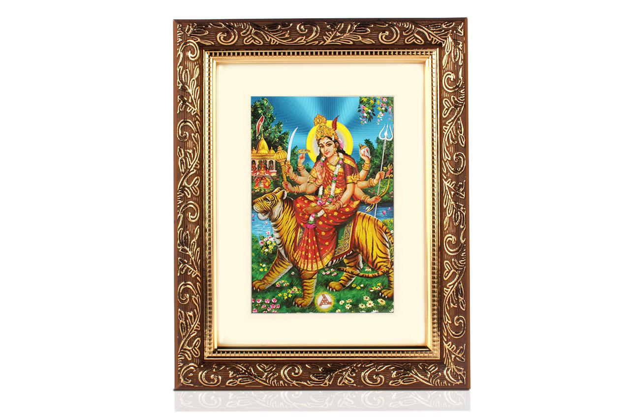 Durga Maa Frame Rudraksha Ratna