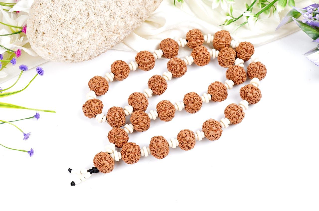5 mukhi Guru mala - 32+1 beads - Design I