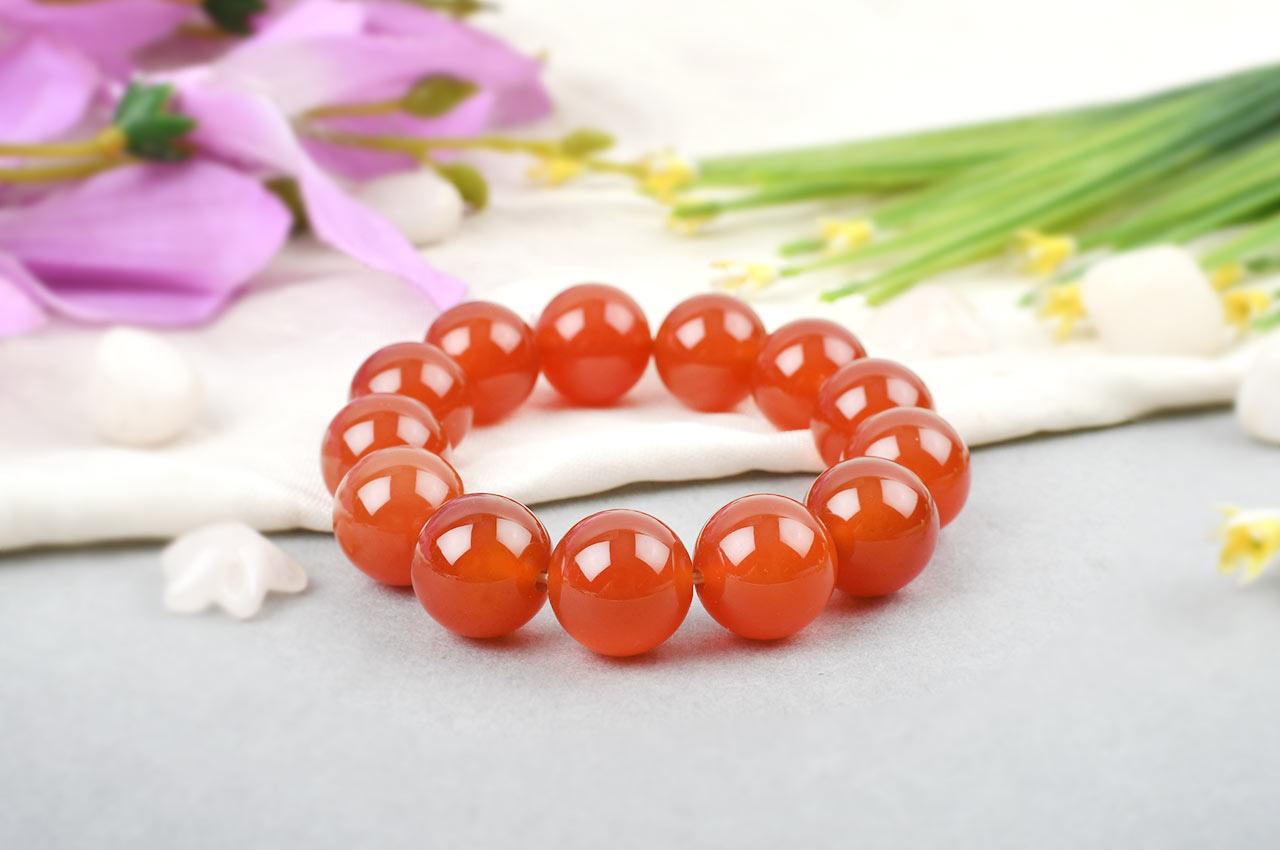 Carnelian Bracelet - Large Beads