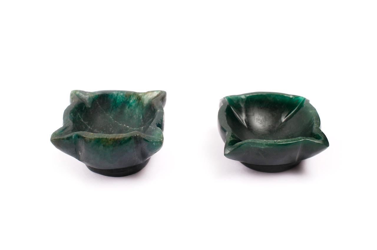 Diyas in Green Jade - 165 gms
